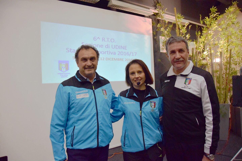 Da sinistra a destra: Gilberto Piva, Marinella Caisutti, il Presidente Enzo Piva